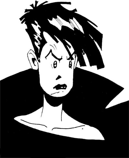 Cybersix - Cyber6 - Argentine comic book - Face closeup