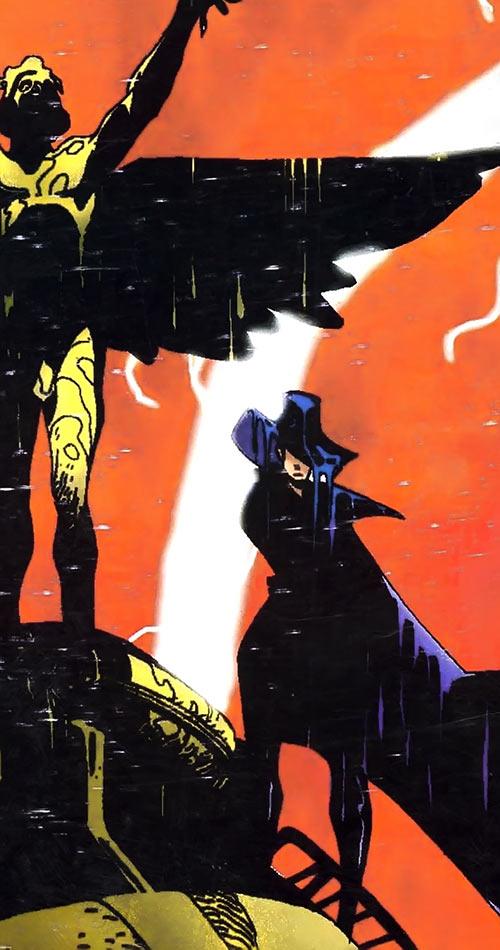 Cybersix - Cyber6 - Argentine comic book - Cover color art