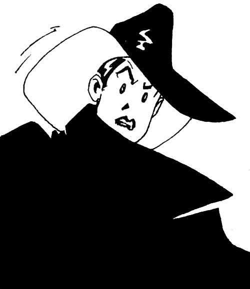Cybersix - Cyber6 - Argentine comic book - Face closeup with hat on