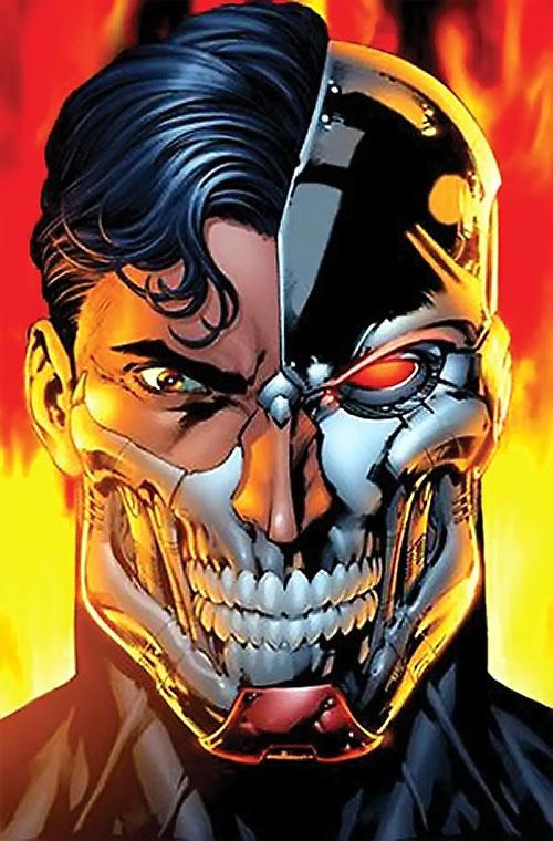 Cyborg Superman (DC Comics) face closeup