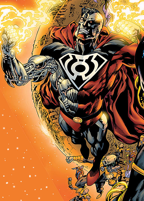 Cyborg Superman (DC Comics) with the Yellow Lantern Corps