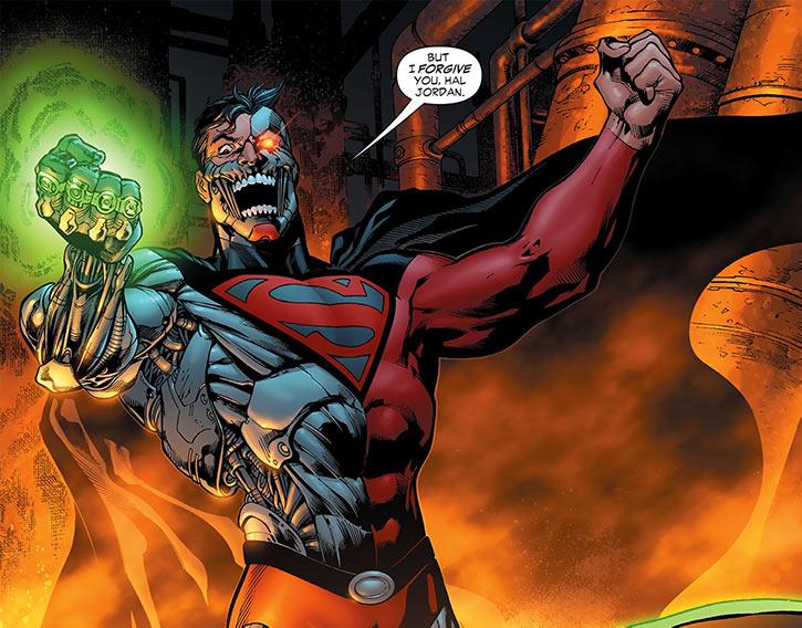 Cyborg Supernan (Hank Henshaw) with green power rings