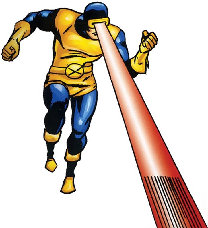 Early Cyclops using his optic beam