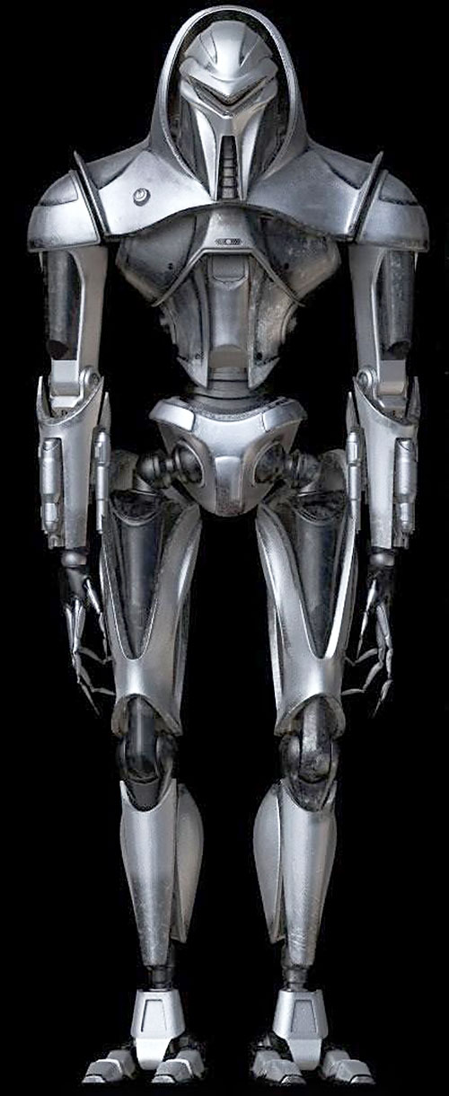 Cylon centurion in the rebooted Battlestar Galactica full model