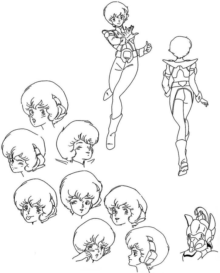 Dana Sterling character model sheet