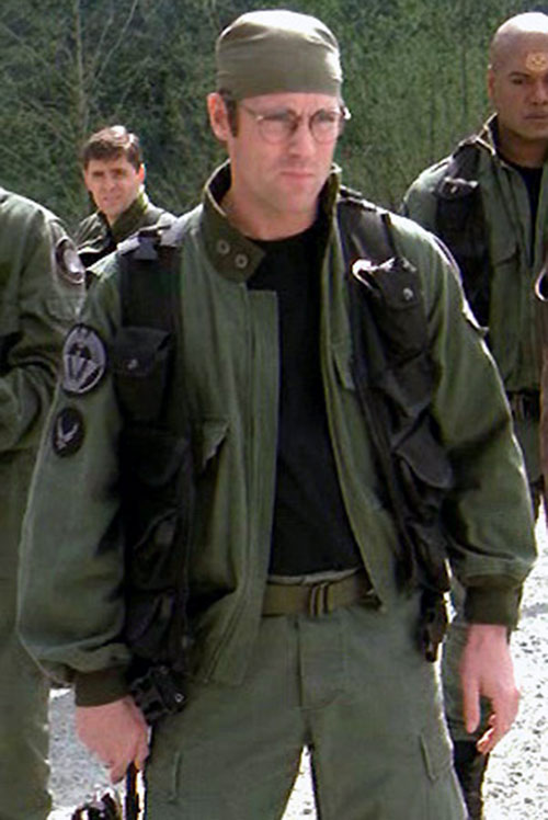 Dr. Daniel Jackson (Michael Shanks in Stargate) with glasses and bandanna