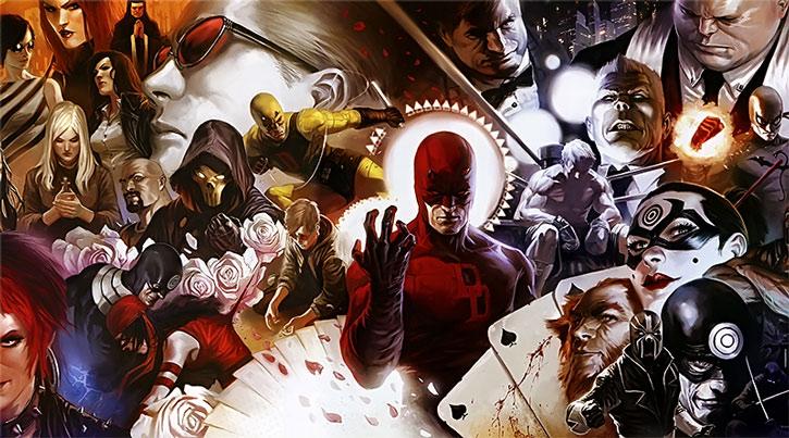 Daredevil composite image by Djurdjevic