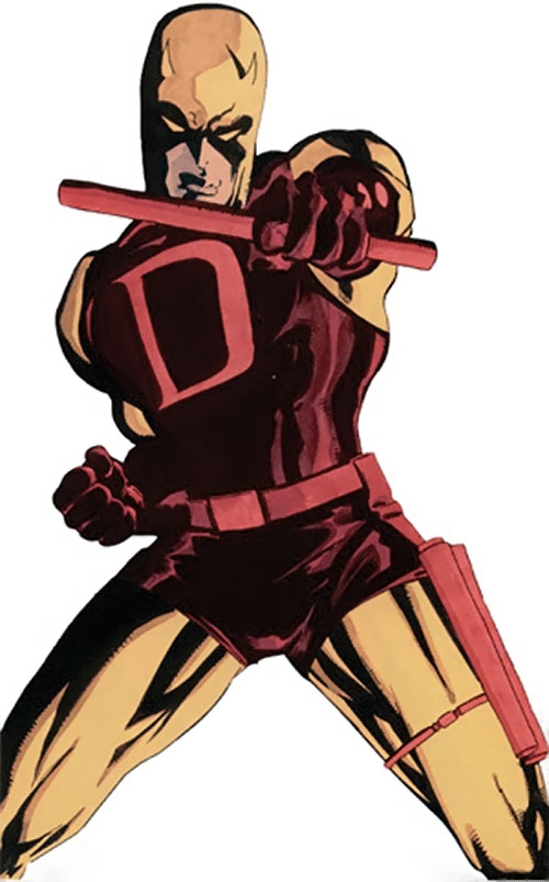 Daredevil (Marvel Comics) in the red and yellow costume, by Tim Sale
