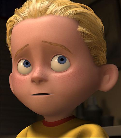 Dash of the Incredibles (Pixar) face closeup