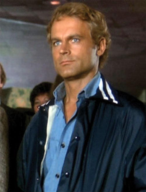 Dave Speed (Terrence Hill in Superfuzz) out of uniform