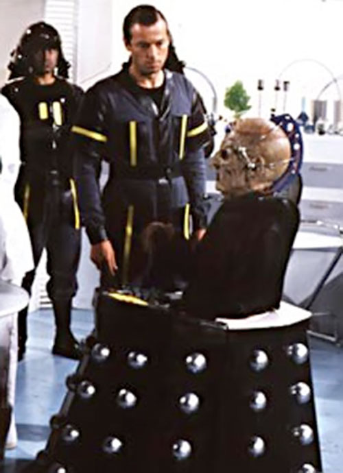 Davros of the Daleks (Doctor Who enemy) among human soldiers