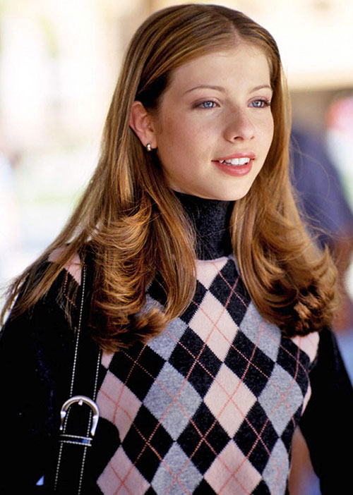 Dawn (Michelle Trachtenberg in Buffy) with a winter pull-over