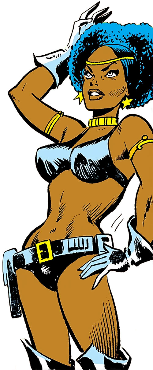 Deadly Nightshade (Captain America character) (Marvel Comics) in her original leather bikini