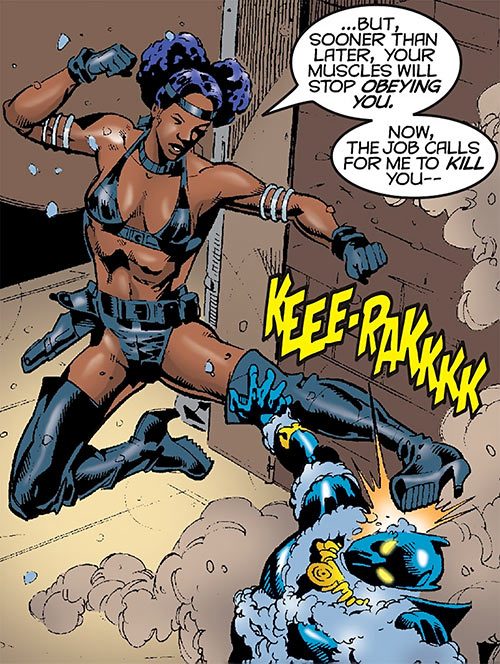 Deadly Nightshade (Captain America character) (Marvel Comics) vs. the Black Panther