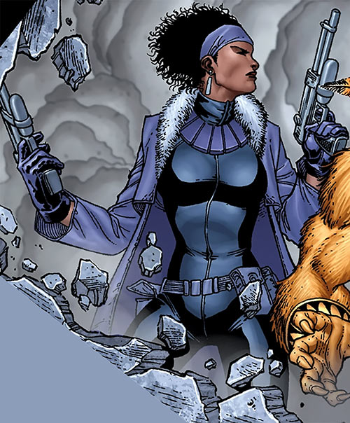Deadly Nightshade (Captain America character) (Marvel Comics) dual-wielding pistols