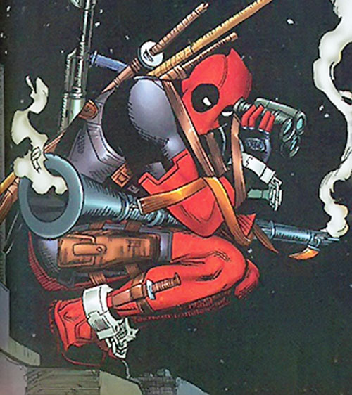 Deadpool with a rocket launcher