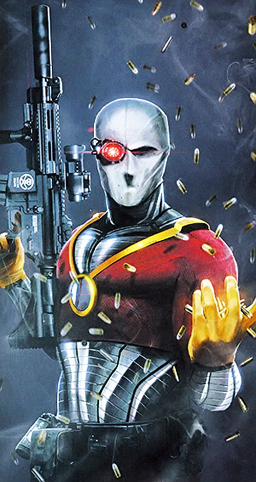 Deadshot with an assault carbine and a shower of spent shells