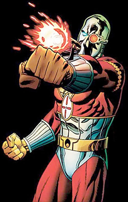 Deadshot shooting, over a black background