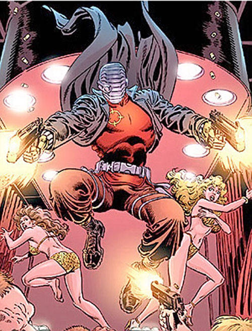 Deadshot and two exotic dancers