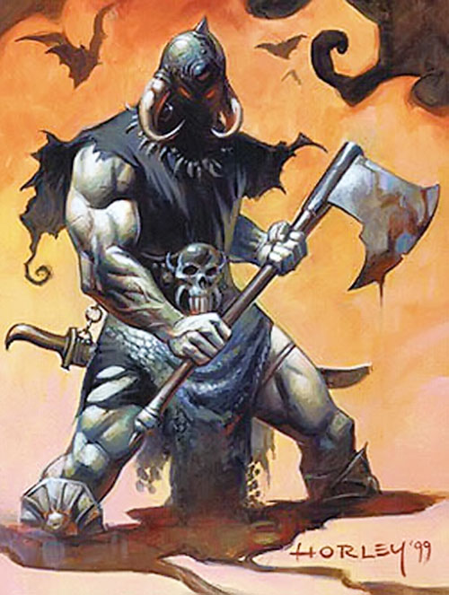 Frazetta's Death Dealer with a large axe