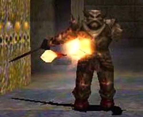 Quake death knight shooting fire bolts