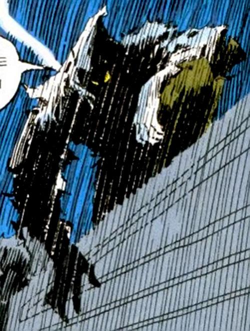 Death Ninja (Ghost Rider enemy) (Marvel Comics) during a rainy night