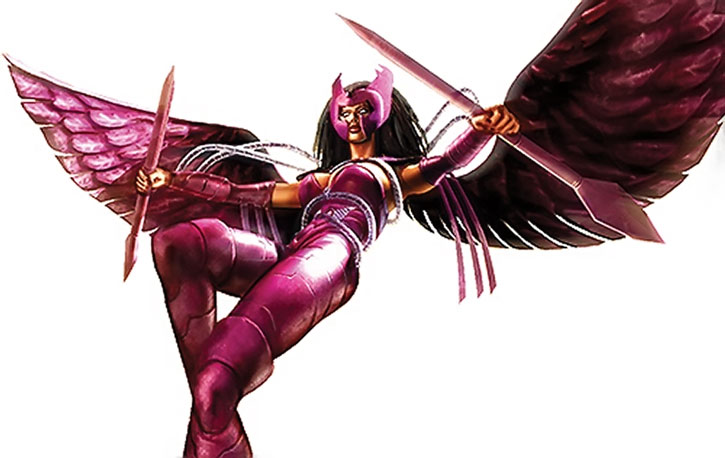 Deathbird as she appears in the Marvel Ultimate Alliance video game