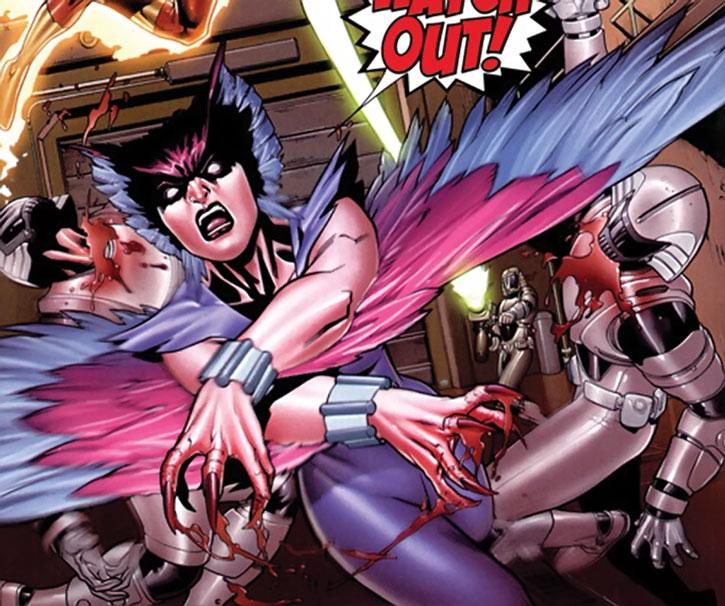 Deathbird attacks Shi'ar guards
