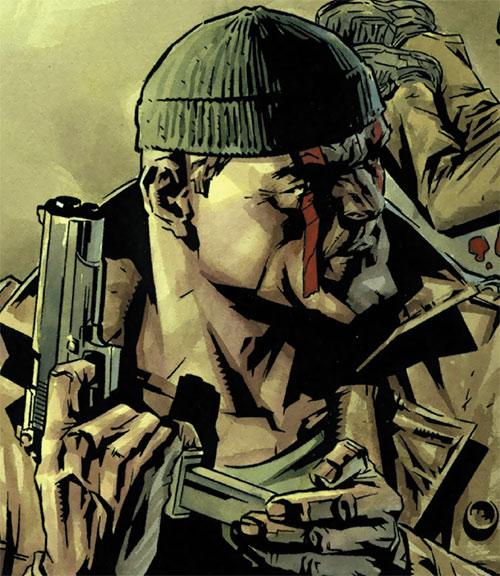 Deathblow (Image Comics) reloading a pistol