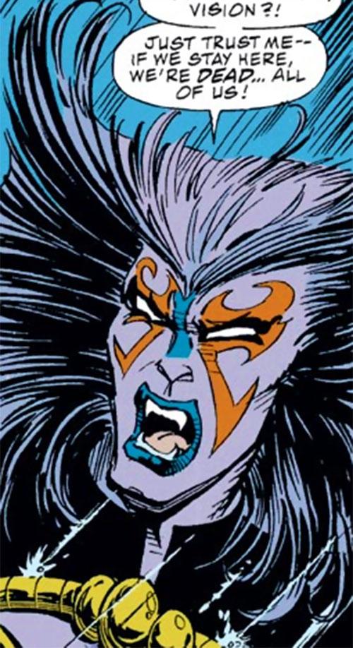 Deathcry of the Avengers (Marvel Comics) face closeup