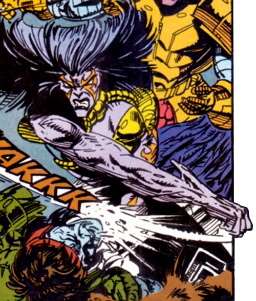 Deathcry of the Avengers (Marvel Comics) fighting Kree soldiers