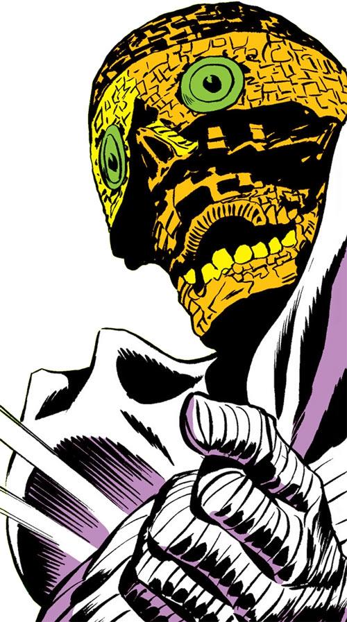Death's Head (Daredevil enemy) mask closeup