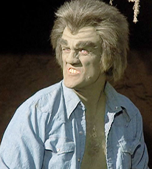 Frye's Creature (Incredible Hulk TV series enemy) making a face