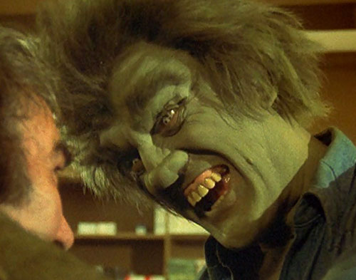 Frye's Creature (Incredible Hulk TV series enemy) angry face closeup
