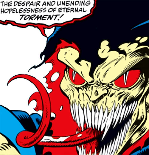Demogoblin (Marvel Comics) face closeup