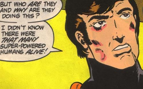 Dev-Em (Legion of Super-Heroes) (DC Comics) battered face