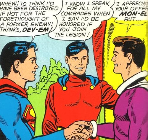 Dev-Em (Legion of Super-Heroes) (DC Comics) with Superboy and Mon-El