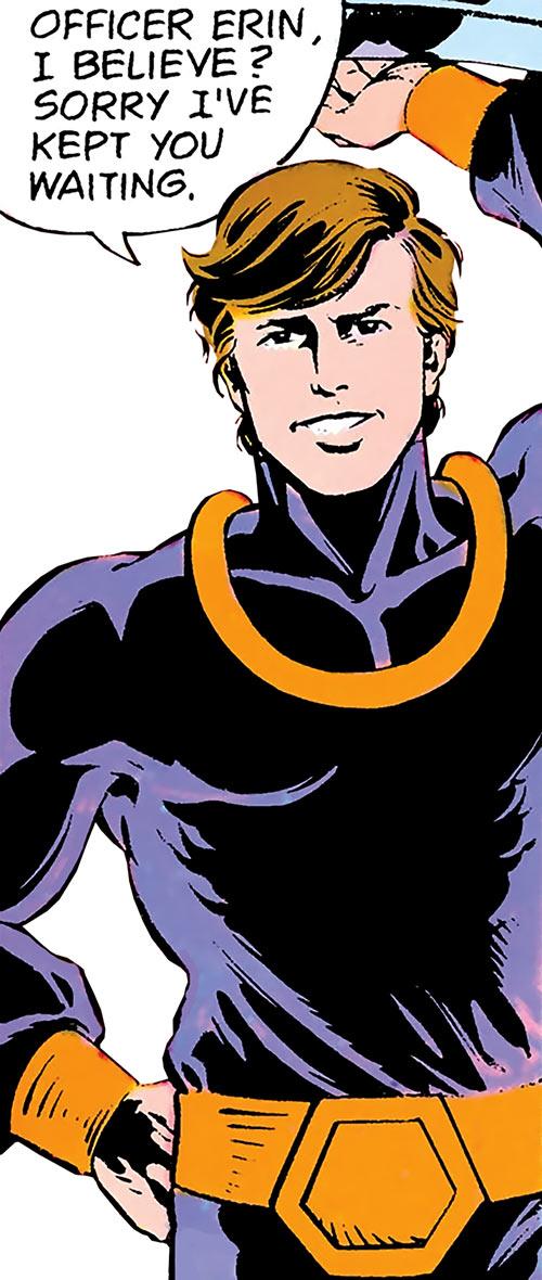 Dev-Em (Legion of Super-Heroes) (DC Comics) violet costume