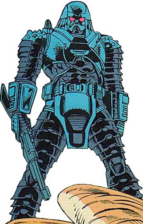 Devos the Devastator (Marvel Comics) with a blaster carbine