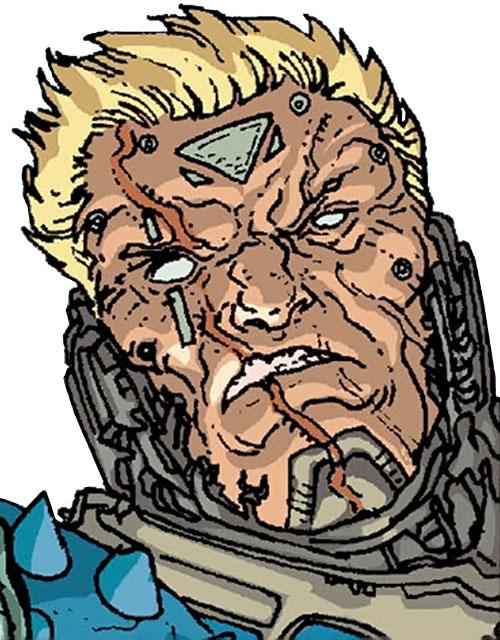 Devos the Devastator (Marvel Comics) without his helmet