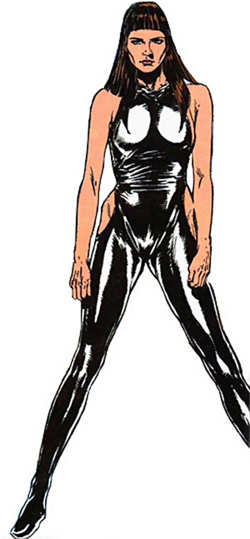 Diamond Lil (Alpha Flight) (Marvel Comics) in black leather