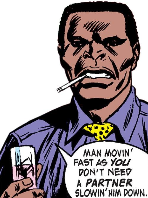 Diamondback (Luke Cage enemy) (Marvel Comics) (Stryker) out of costume