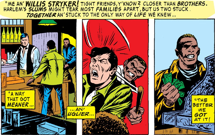 Flashback to Luke Cage and Willis Stryker, part 1 (Marvel Comics)