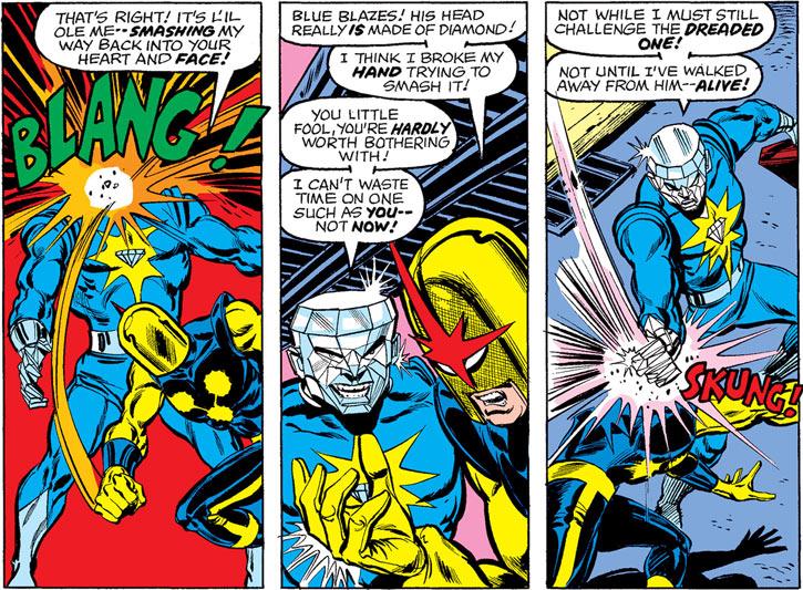 Diamondhead vs. Nova (Marvel Comics) during the 1970s