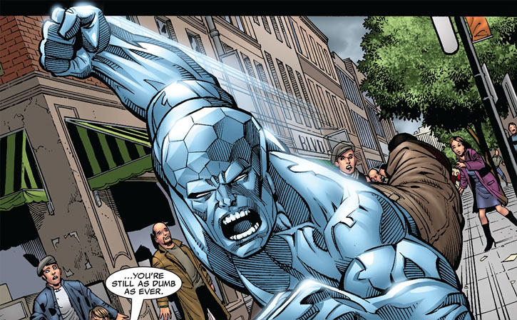 Diamondhead (Nova enemy) (Marvel Comics) charging, 2009 art