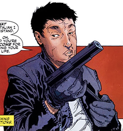 Rush (Diego Zhao) (DC Comics) with a pistol