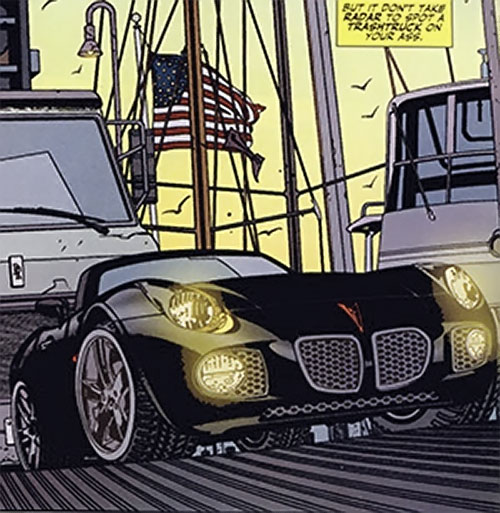 Rush (Diego Zhao) (DC Comics) Pontiac Solstice front view