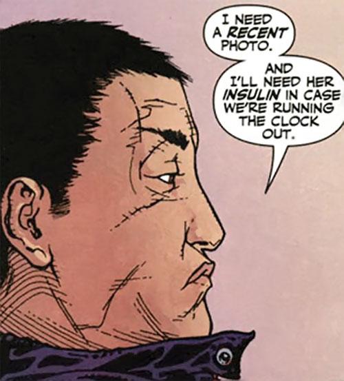 Rush (Diego Zhao) (DC Comics) face closeup side view