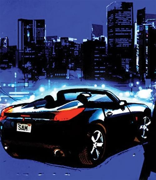Rush (Diego Zhao) (DC Comics) Pontiac Solstice back view