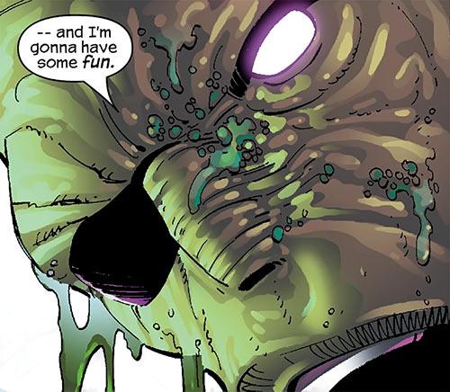 Digger (Spider-Man enemy) (Marvel Comics) (Las Vegas 13) face closeup